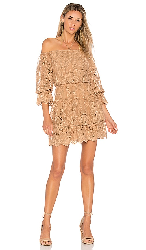 Alice + Olivia Waylon Dress in Tan