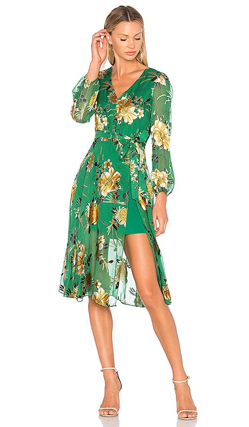 Alice + Olivia Coco Dress in Green