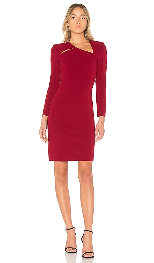 Alice + Olivia Scottie Cut Out Dress in Red