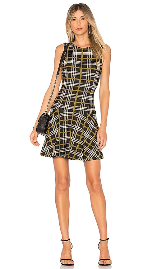 Alice Olivia Fonda Dress In Black White Yellow Revolve