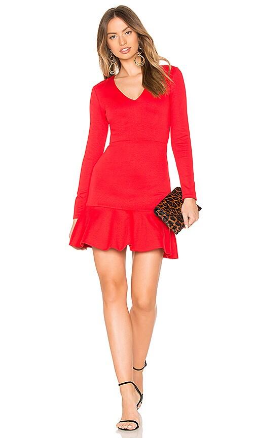 Alice + Olivia Francine Dress in Red