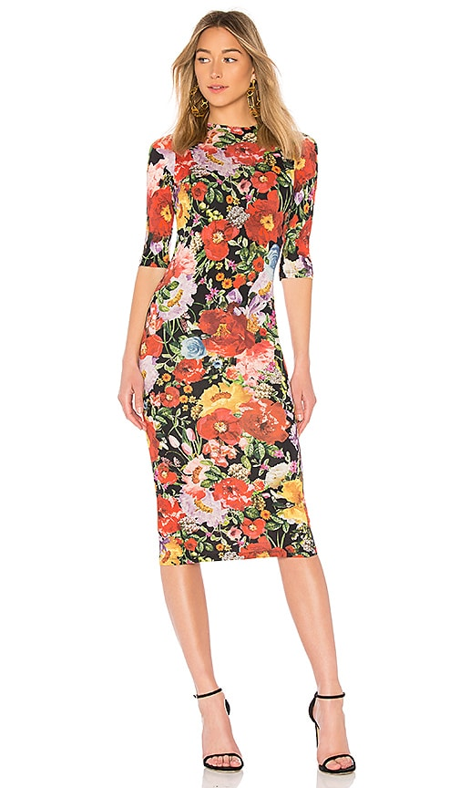 Alice + Olivia Delora Fitted Dress in Multi