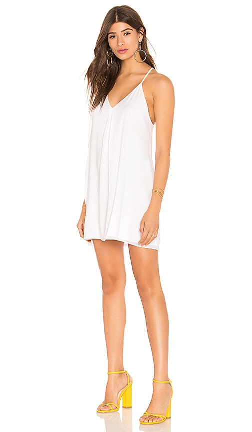 Alice + Olivia Fierra Y Back Tank Dress in White