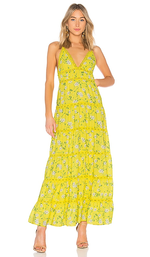 Alice + Olivia Karolina Maxi Dress in Yellow