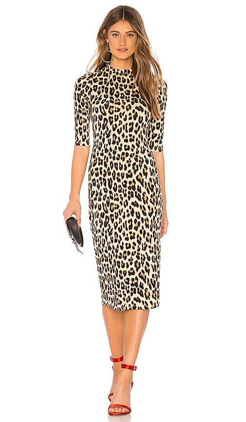 a14185ecda60 Alice + Olivia Delora Dress in Textured Leopard | REVOLVE