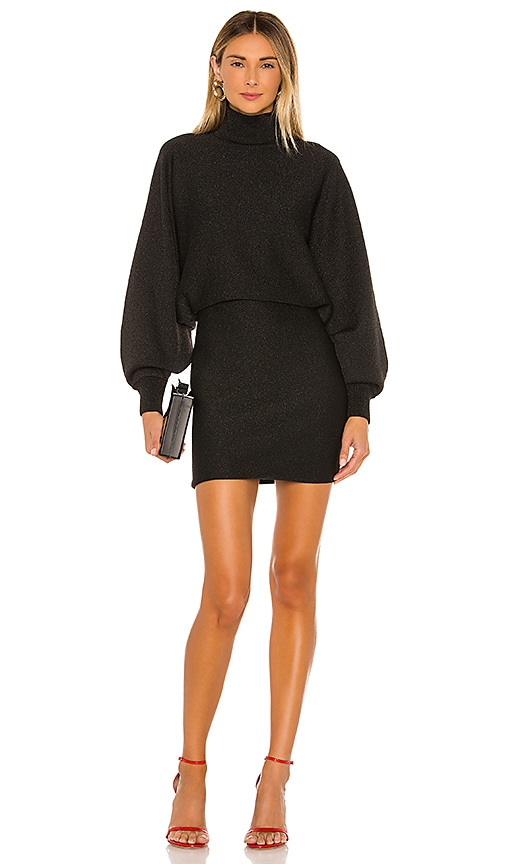Bari Turtleneck Dolman Sleeve Dress by Alice + Olivia