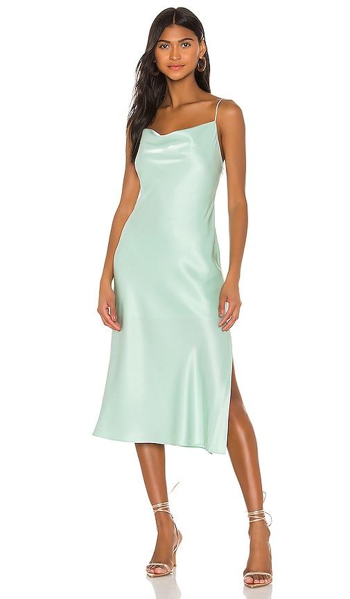 Vintage Inspired Slips Alice  Olivia Harmony Drop Slip Midi Dress in Mint. - size 8 also in 0246 $169.00 AT vintagedancer.com