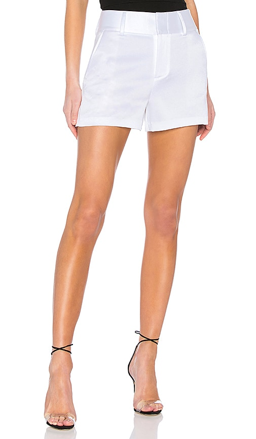 Alice + Olivia Cady High Waist Short in White