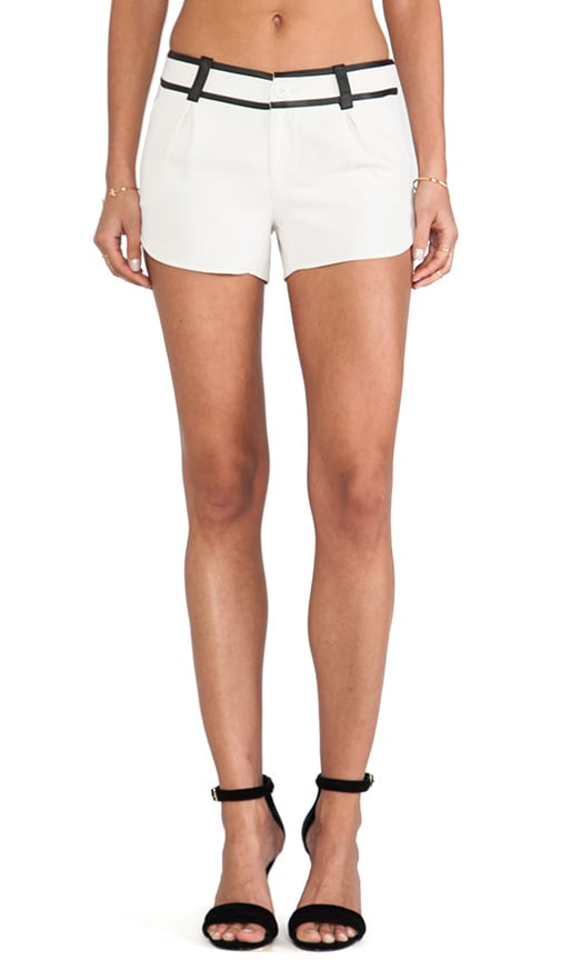 Leather Trim Butterfly Shorts