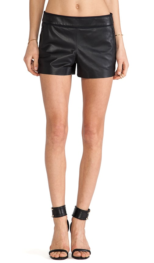 Leather Piped Shorts