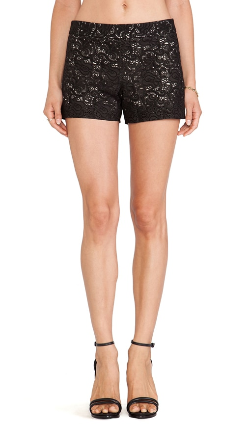 Leather Laser Cut Shorts