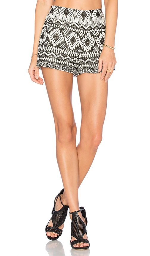 Alice + Olivia Marisa Short in Black & White