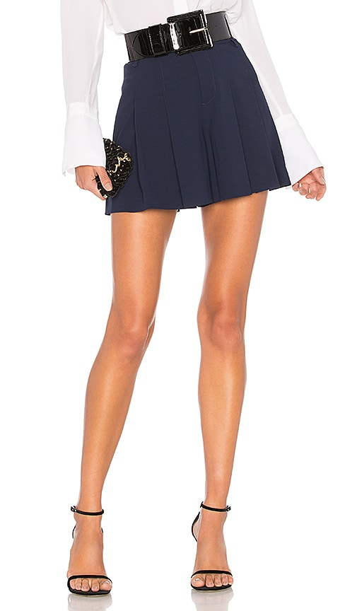 Alice + Olivia Scarlet High Waisted Flutter Shorts in Navy