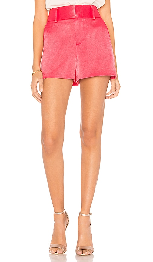 Alice + Olivia Cady High Waist Short in Pink
