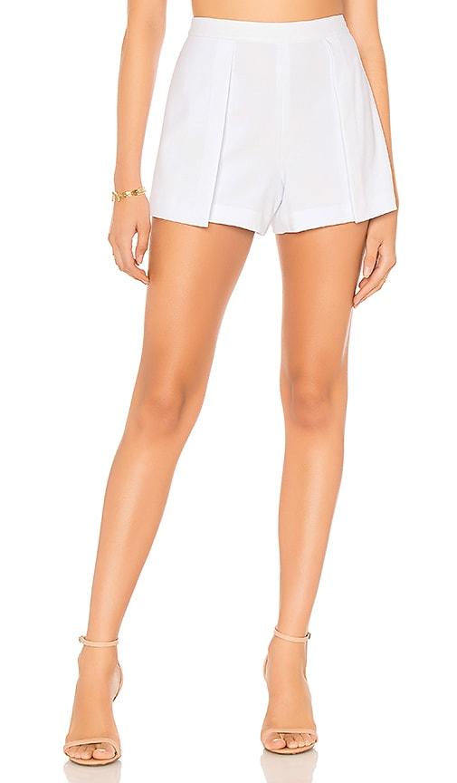Alice + Olivia Larissa Open Pleat Front Short in White