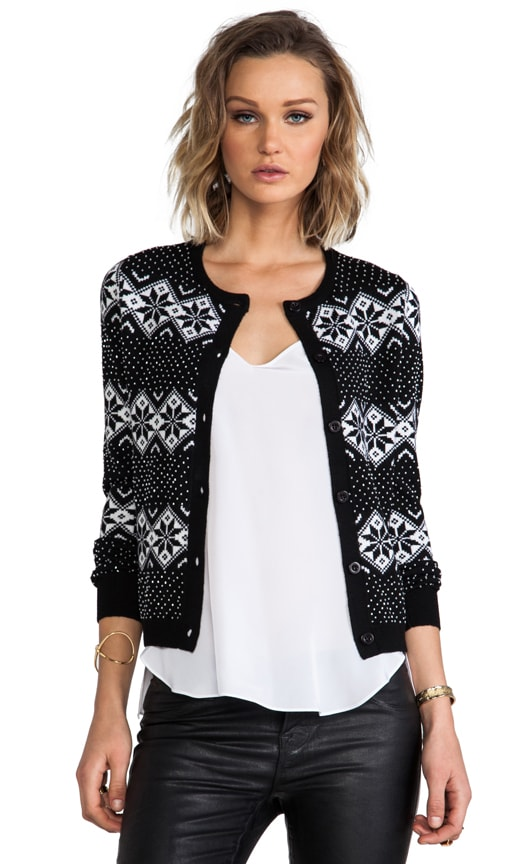 Snow Jacquard and Beads Cardigan