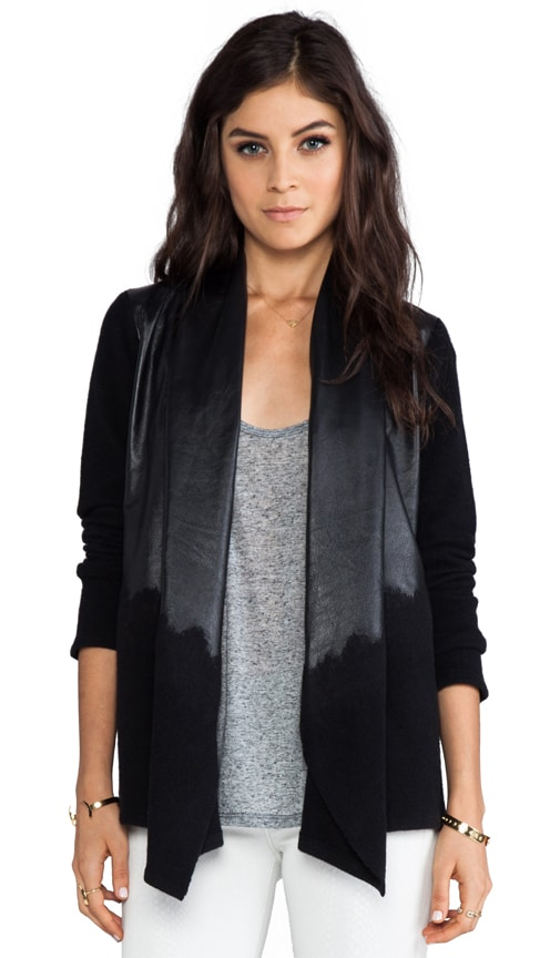 Aaralyn Leather Drape Cardigan