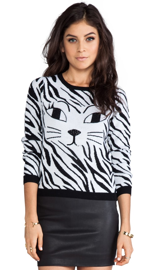 Reyn Sequinned Cat's Eye Sweater