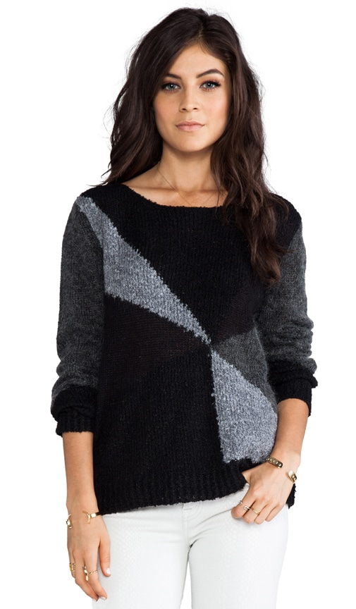 Elsa Sheer and Boucle Blocked Sweater