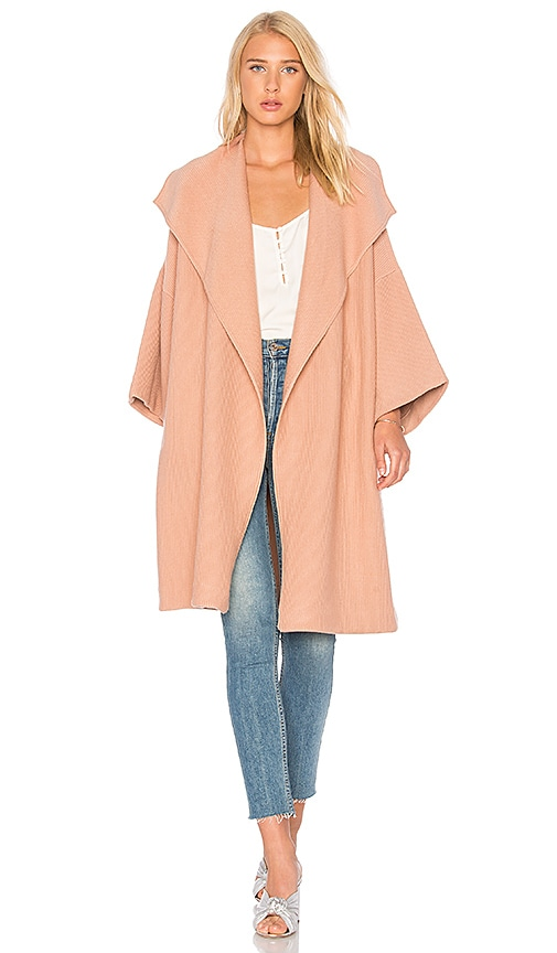 Alice + Olivia Hester Knit Coat in Rose