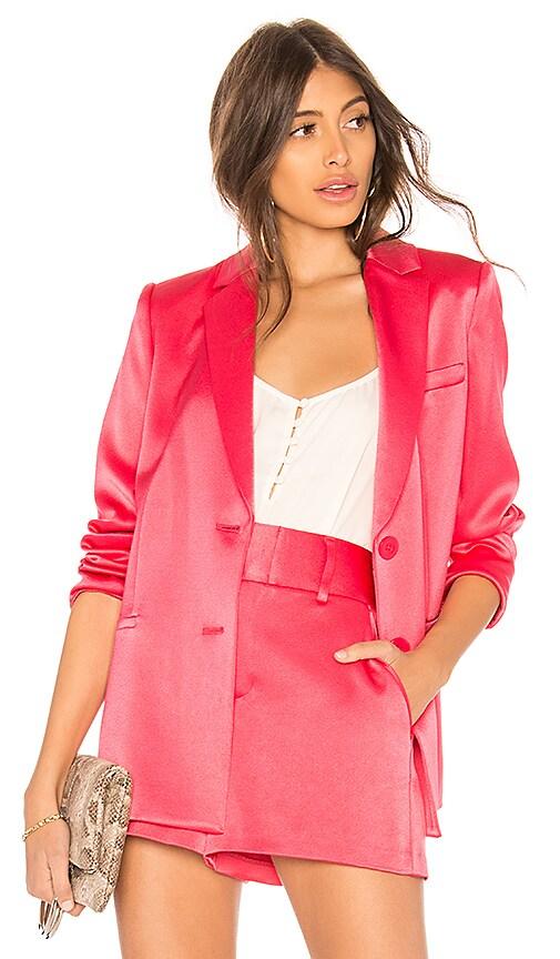 Alice + Olivia Bergen Loose Blazer in Pink
