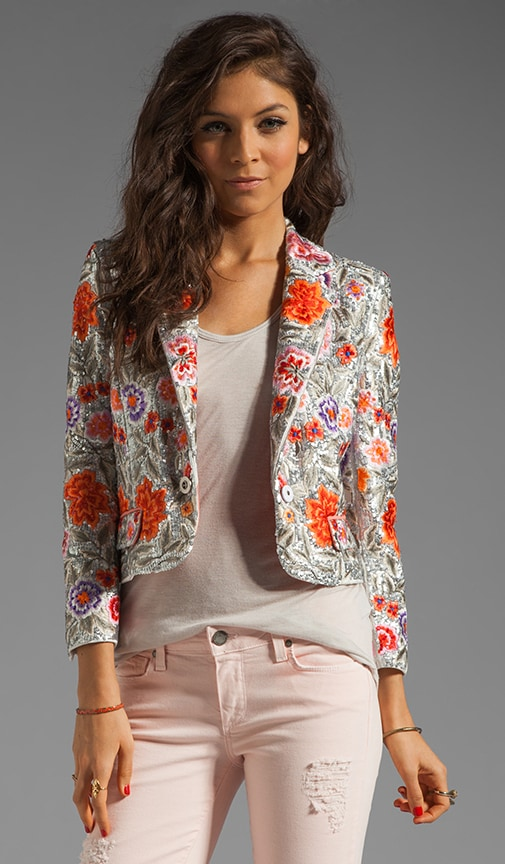 Vanda Embroidered Cropped Jacket