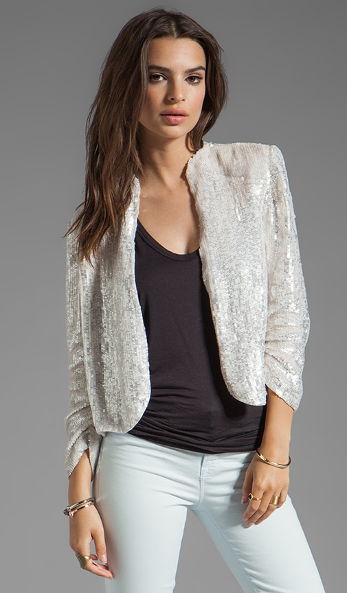Wheeler Embellished Deconstructed Drape Jacket