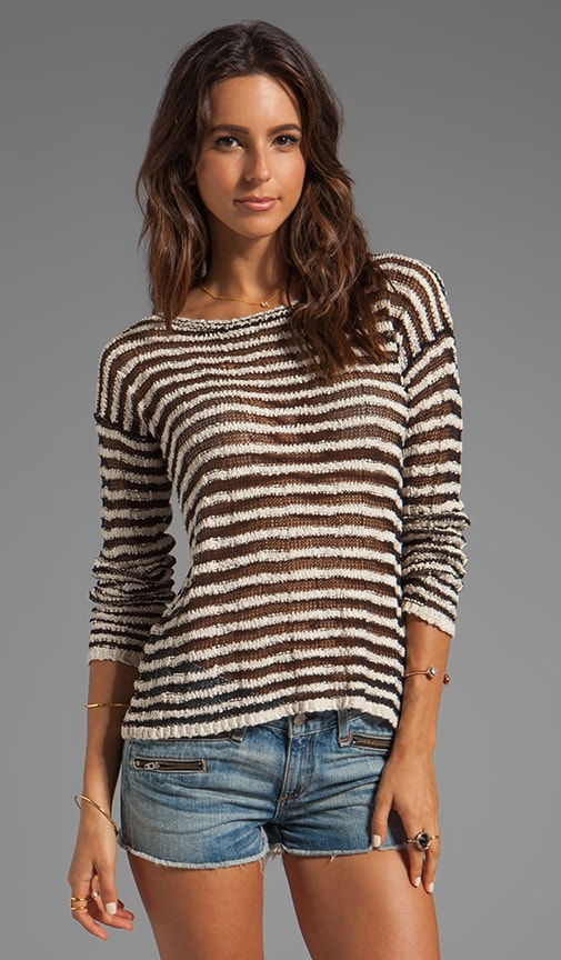 Multi Yarn Stripe Ethan Boxy Sweater
