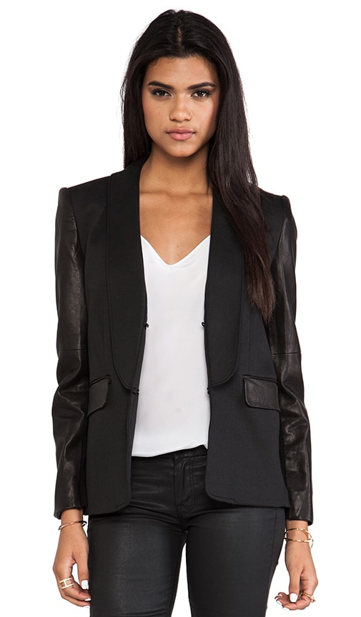 Hartley Leather Sleeve Blazer