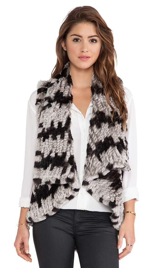 India Real Rabbit Fur Cascade Vest