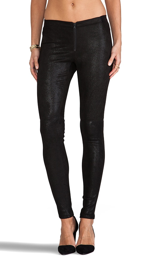 Front Zip Leather Legging