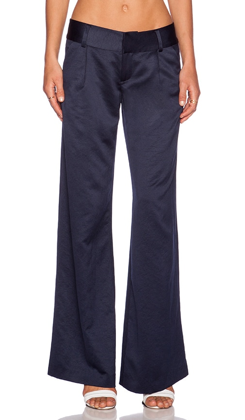 Alice + Olivia Eric Pant in Navy