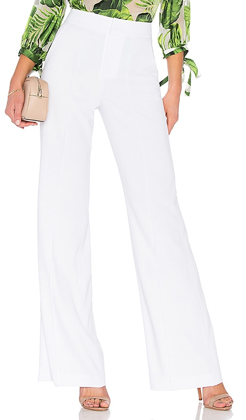 b5c1e1f877 Alice + Olivia Dylan High Waisted Fitted Pant in White | REVOLVE