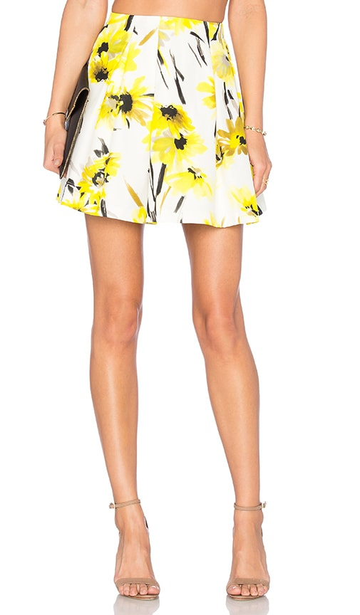 Alice + Olivia Connor Skirt in Daisy Field All Over