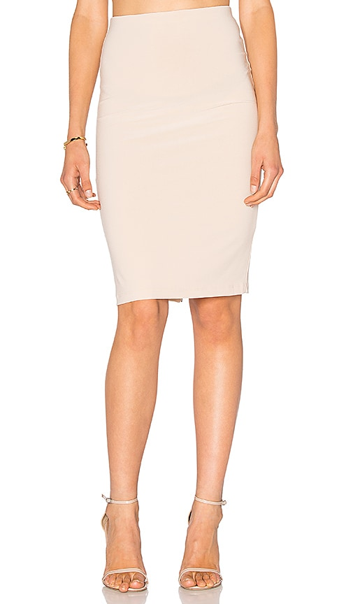 Alice + Olivia Terri Pencil Skirt in Beige