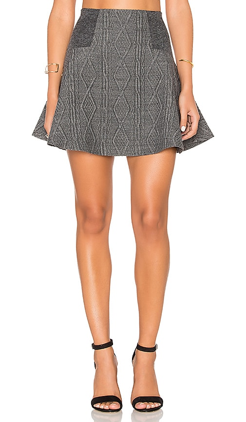 Alice + Olivia Elsie Skirt in Gray