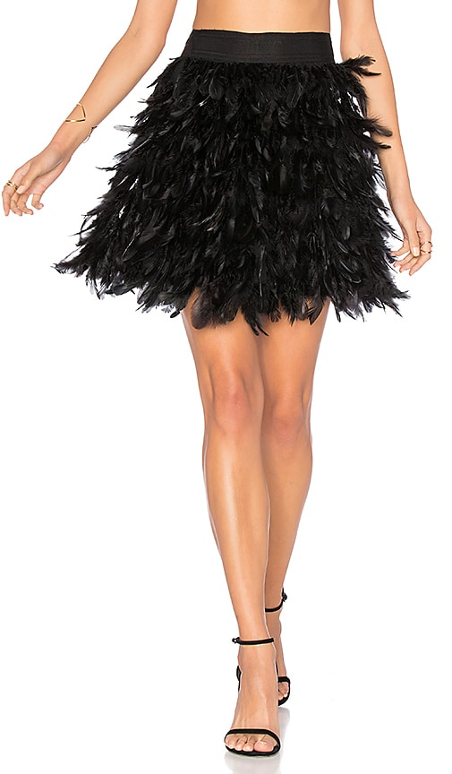 AliceOlivia Mini Skirt Cina BlackRevolve In Feather qpjLMVSzGU