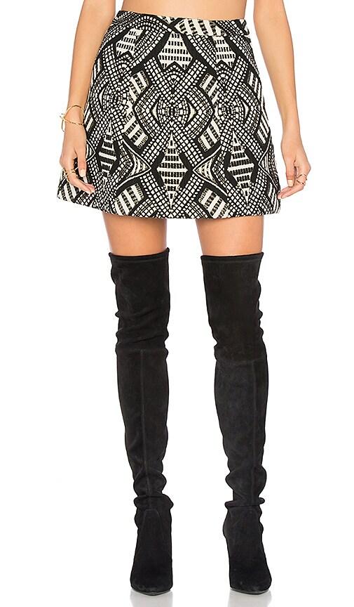 Alice + Olivia Loran Mini Skirt in Black