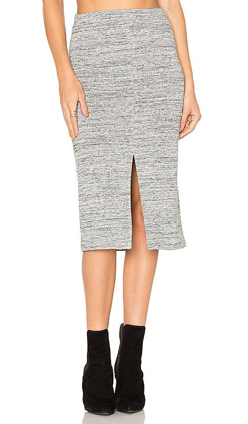 Alice + Olivia Spiga Slit Skirt in Gray