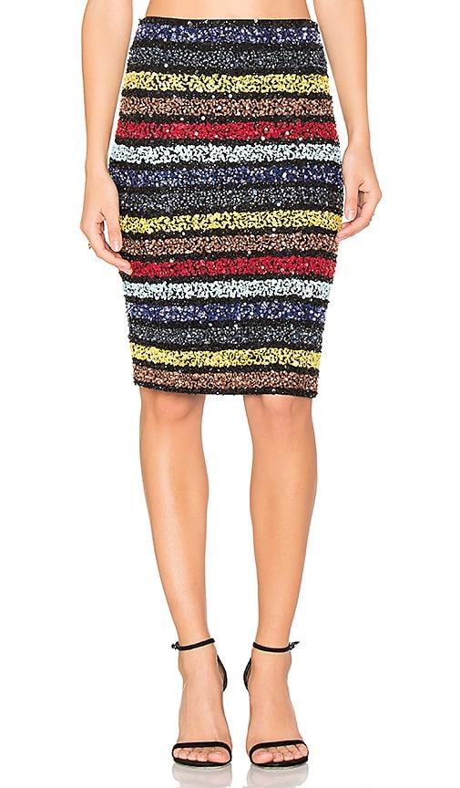 Alice + Olivia Ramos Embellished Skirt in Black