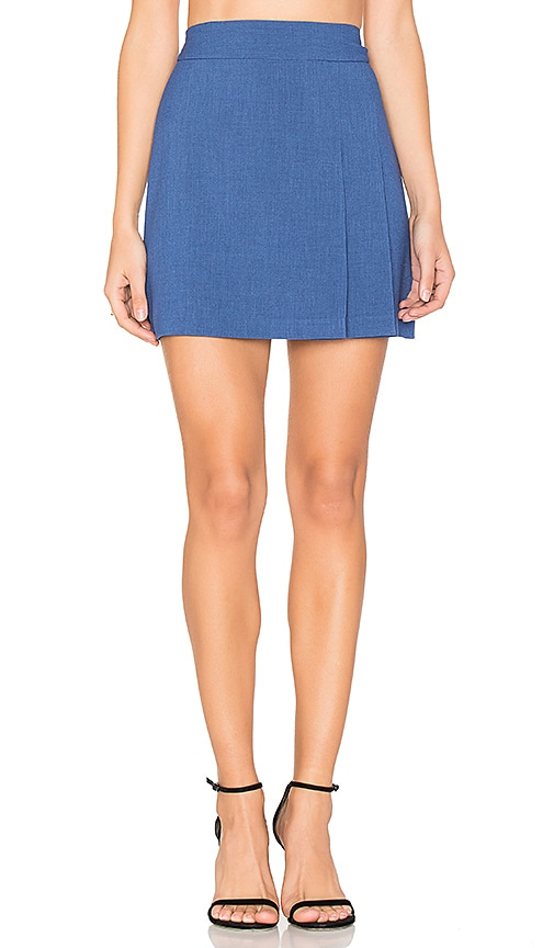 Bianka Side Pleat Mini Skirt