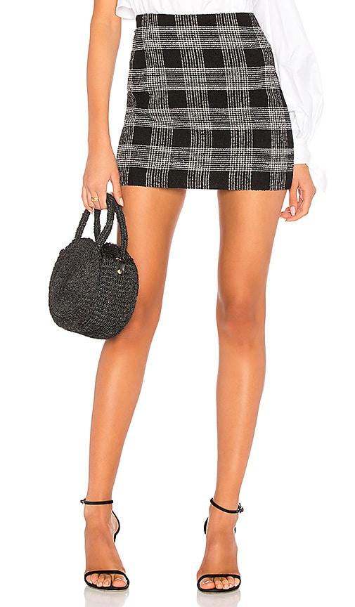 Alice + Olivia Elana Mini Skirt in Black