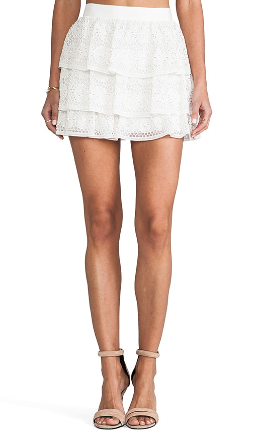 Ruba Crochet Beaded Ruffle Skirt