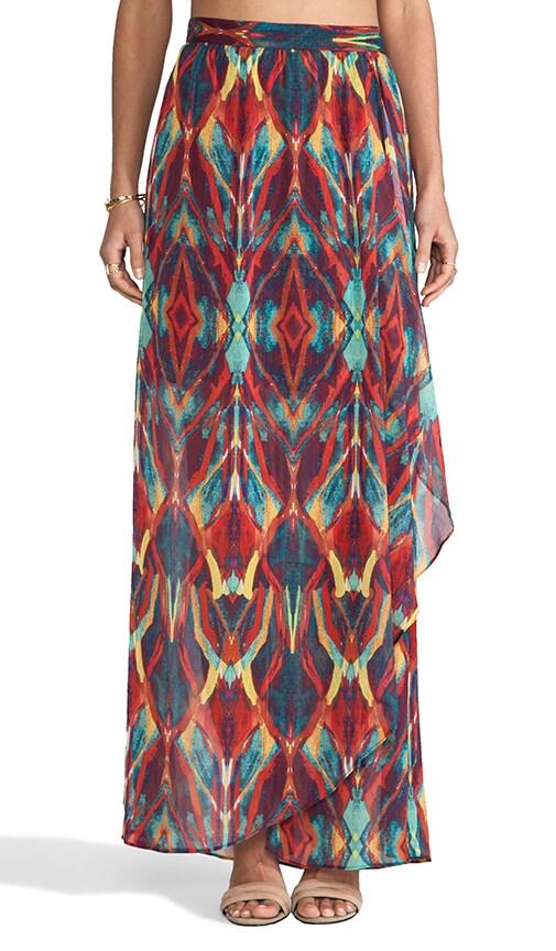 Miabella Wrap Slit Maxi Skirt