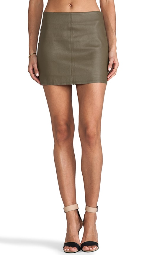 Aly Leather Mini Skirt