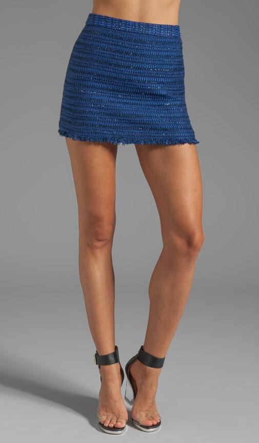 Fefe Fringed Hem Mini Skirt