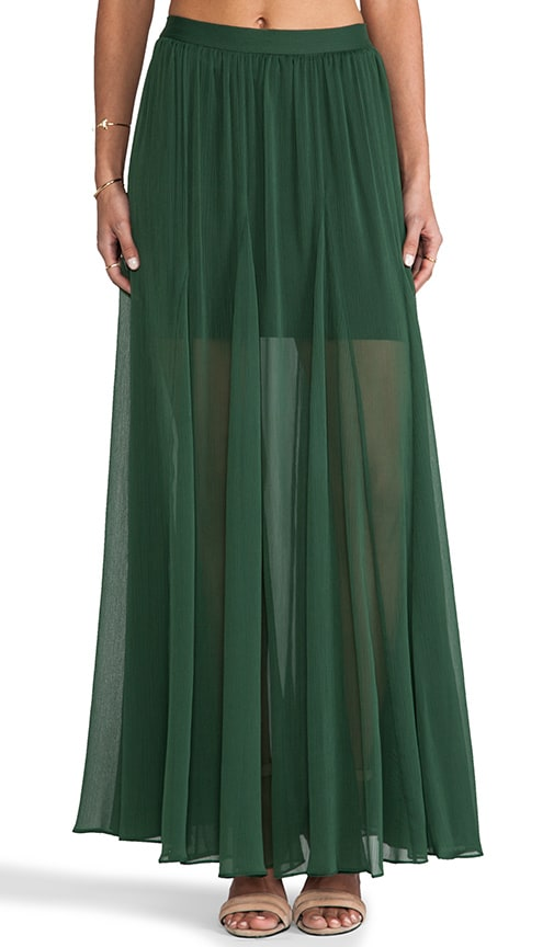 Adme Long Godet Maxi Skirt