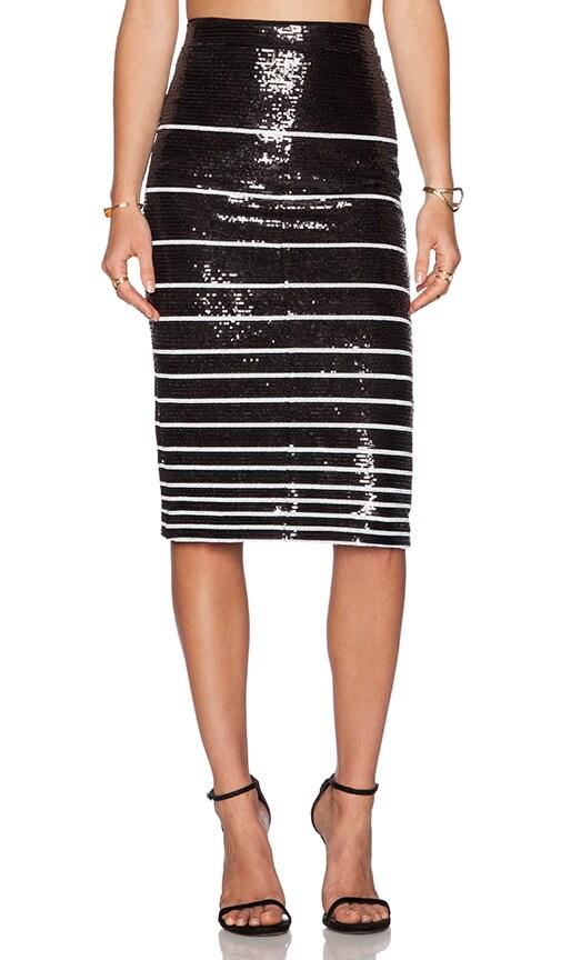Rue Sequin Stripe Pencil Skirt