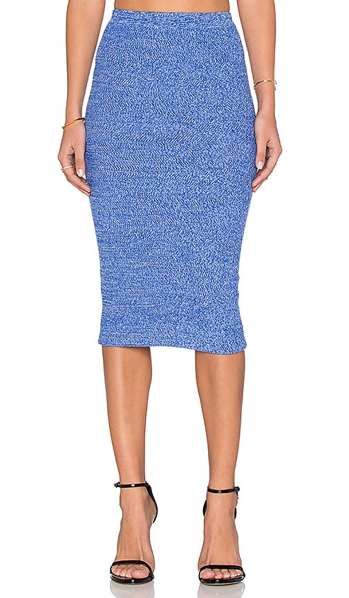 Alice + Olivia Morena Skirt in Blue & White