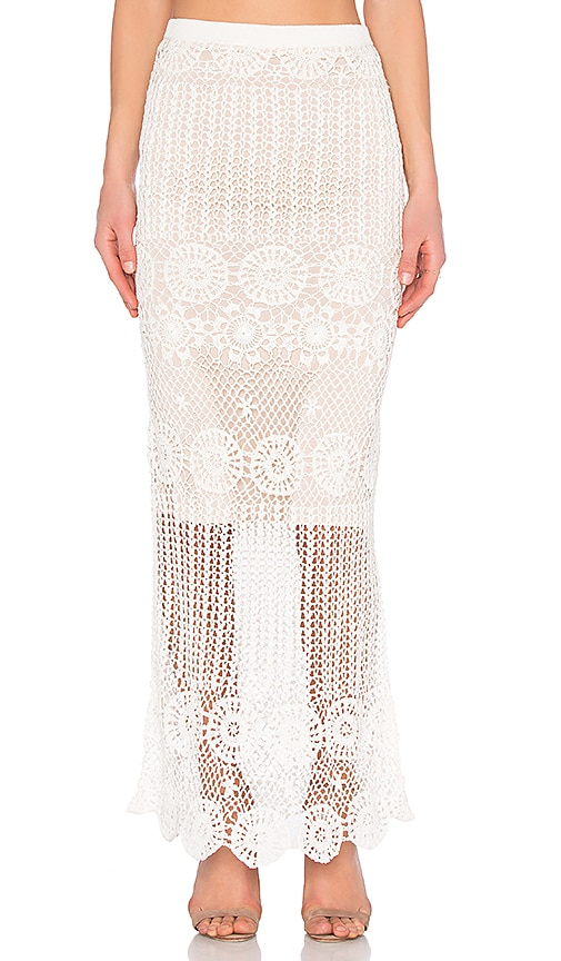 Alice + Olivia Griselda Skirt in Ivory